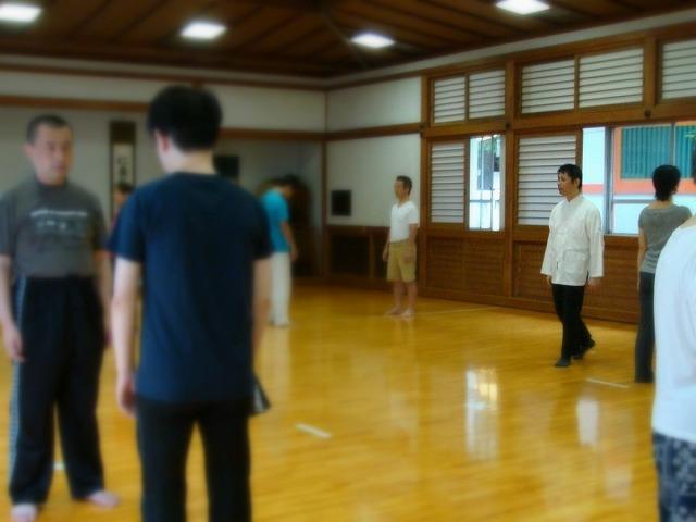 太極拳朝活渋谷教室 練習風景
