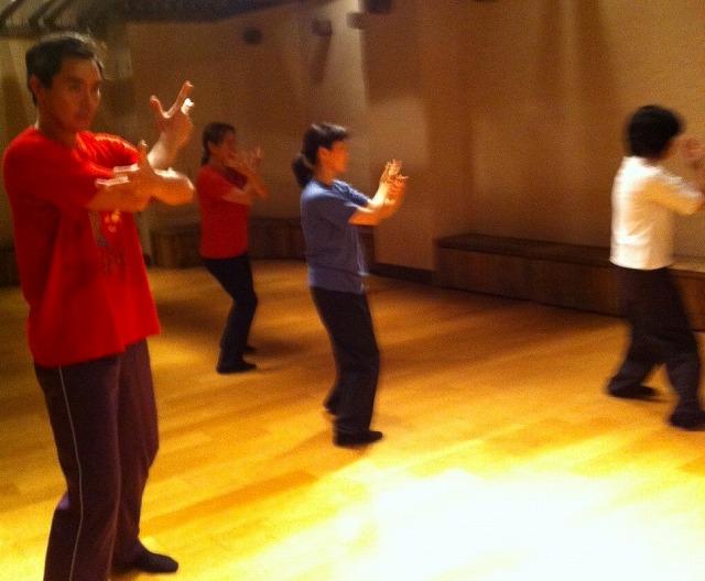 太極拳中華街教室 練習風景