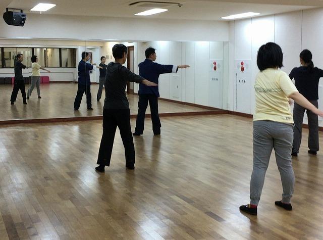 太極拳新横浜教室 練習風景